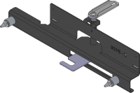Docking plate to connect BDF-e to BSF or centered printer