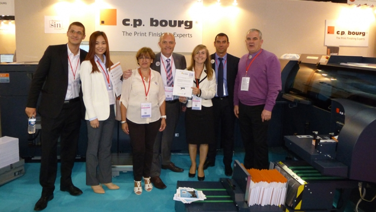 "C.P. Bourg won the prize ""coup de cœur 2015"" at Graphitec"